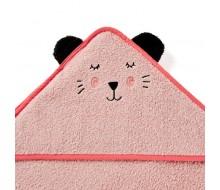 Badcape Katje in roze badstof
