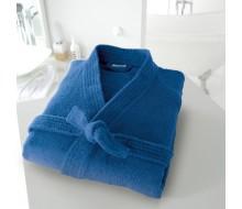 Badjas in badstof met kimonokraag (volwassenen) in kobaltblauw maat 34/36 (XS)