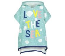 Badponcho / strandponcho LOVE THE SEA (zonder mouwen; open aan de zijkanten)