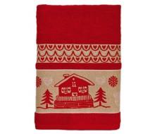 Handdoek met chaletmotief