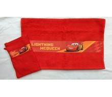 Handdoek Cars met washandje