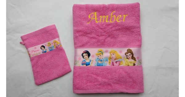 Handdoek Princess met washandje