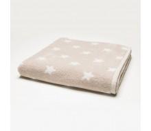 Handdoek sterretjes touwbeige (50 cm x 100 cm)