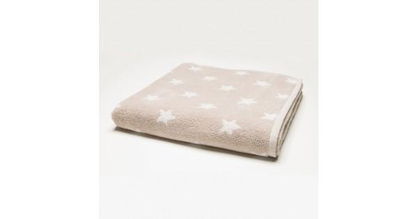 Handdoek sterretjes 50 cm x 100 cm
