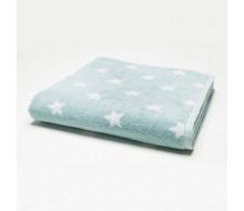Handdoek sterretjes aquablauw (50 cm x 100 cm)
