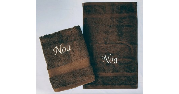2-delige handdoekenset Jules Clarysse Talis bruin