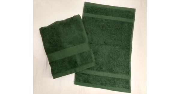 2-delige handdoekenset Jules Clarysse donkergroen