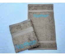 2-delige Handdoeken(zwem)set Jules Clarysse Talis zand