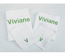 4-delige handdoekenset wit
