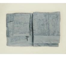 5-delige handdoekenset grijsblauw