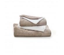 5-delige handdoekenset taupe / wit