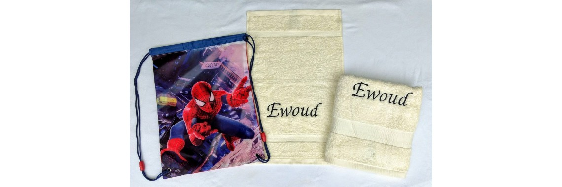 2-delige handdoeken(zwem)set Jules Clarysse ivoor