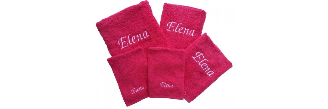 5-delige handdoekenset met naam geborduurd