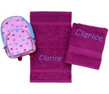 2-delige handdoeken(zwem)set Jules Clarysse berry