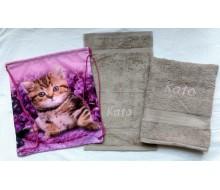 Zwemset katje (kleur handdoeken naar keuze)