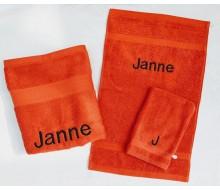 2-delige handdoekenset Jules Clarysse oranjerood