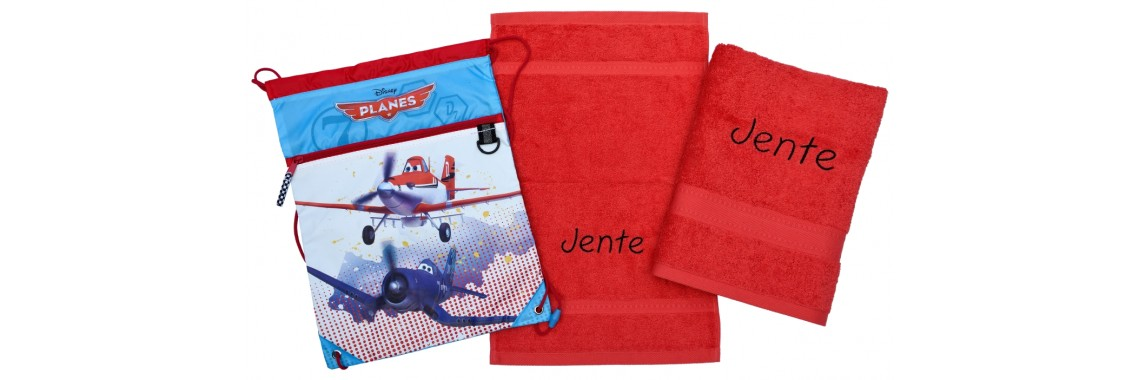 Handdoeken(zwem)set met naam geborduurd