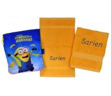 2-delige handdoeken(zwem)set Jules Clarysse geel