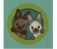 Kaartje konijntjes