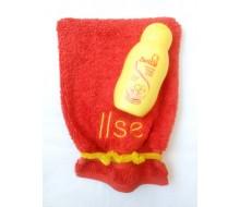 Washandje Clarysse (beschikbaar in 16 kleuren) + Zwitsal mini zeepvrije wasgel (75 ml)