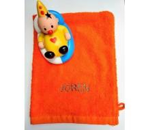 Washandje oranje + Bumba badspeeltje