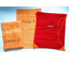 Zwemset Kickers Rood-Oranje (kleur handdoeken naar keuze)