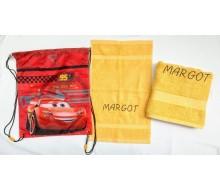 Zwemset Cars (kleur handdoeken naar keuze)