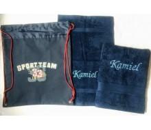 Zwemset Kickers Sportteam (kleur handdoeken naar keuze)