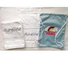 Zwemset Vans Rainicorn (kleur handdoeken naar keuze)